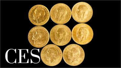 UNRESERVED ESTATE COLLECTION GOLD COINS