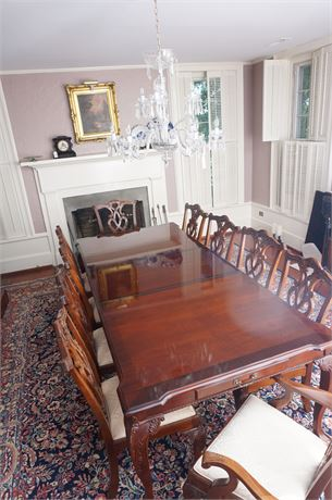 Stoneleigh Mahogany Dining Table With 10 Chairs. Prev. Lot # 109