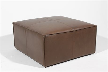 West Elm Leather Ottoman