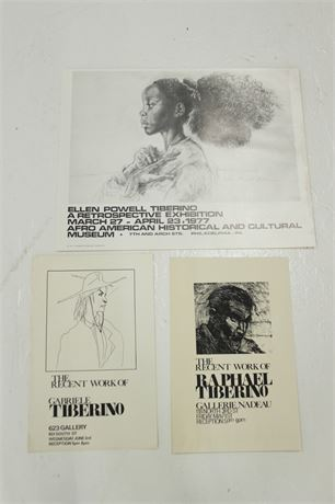 Set of 3 Exhibition Posters by Tiberino Family