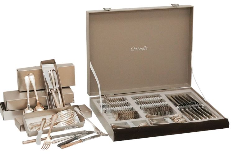 "Partial Set of CHRISTOFLE Flatware in ""Albi"""
