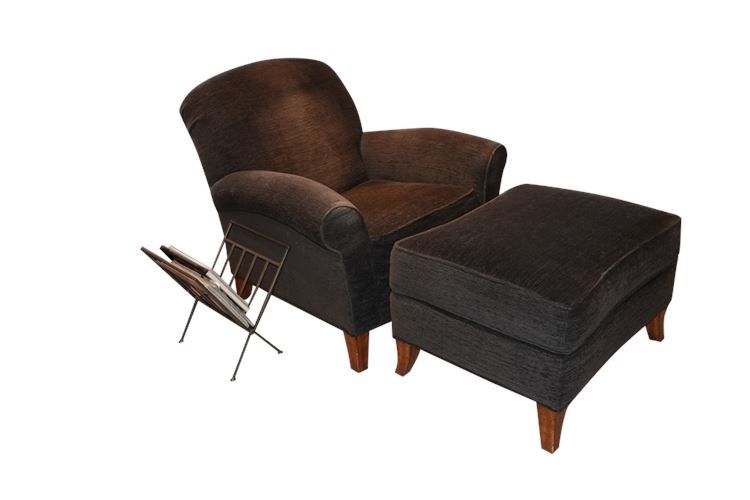 KRAVET Lounge Chair with Ottoman
