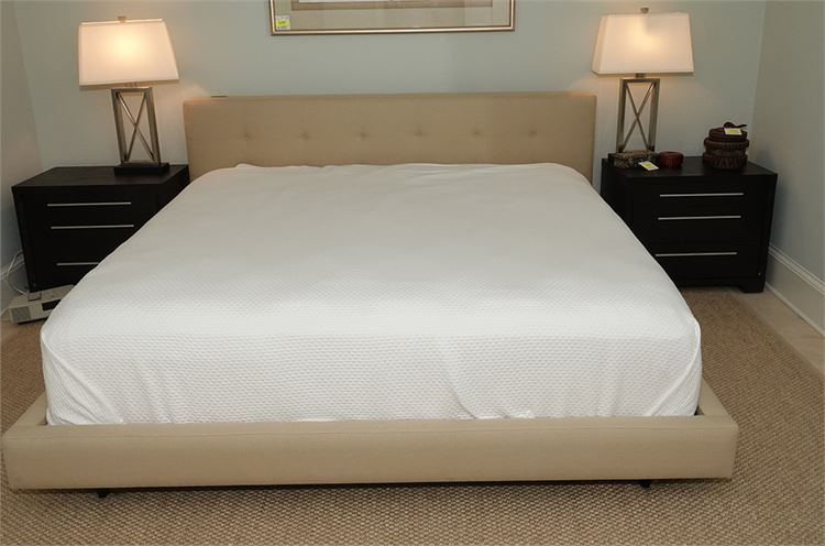 King Size Upolstered Bed with Mattress