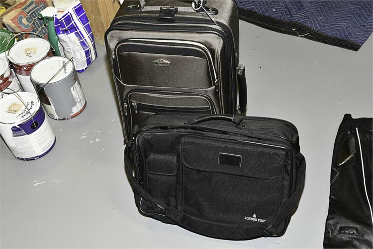 Group Lot of Two (2) Black Suitcases