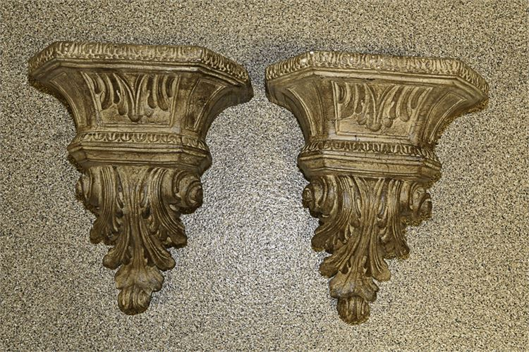 Pair Neoclassical Style Wall Brackets