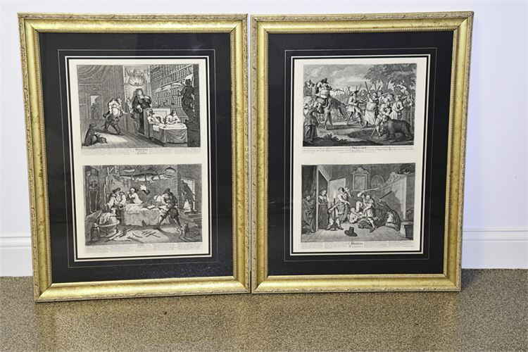 Pair Framed Historical Prints
