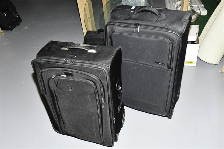 Lot of Two (2) Black Suitcases