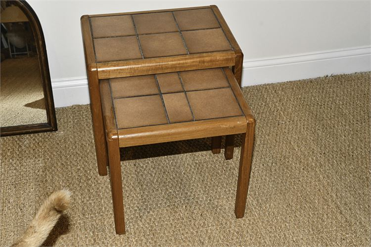 Two (2) Tile Topped Nesting Tables