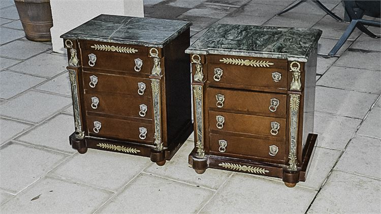 Pair of Empire Style Bedside Commodes